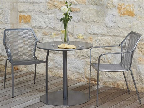 Woodard Delmar Wrought Iron Bistro Metal Dining Set