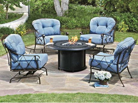 Woodard Derby Wrought Iron Cushion Lounge Set