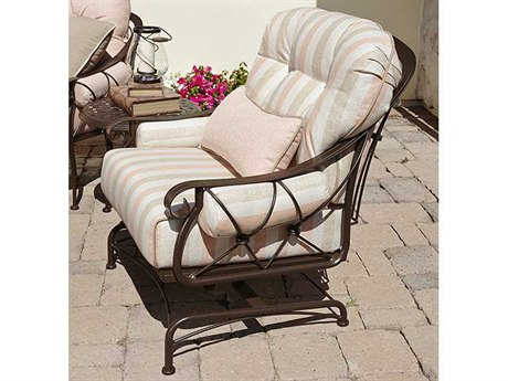 Woodard Derby Cushion Wrought Iron Lounge Set