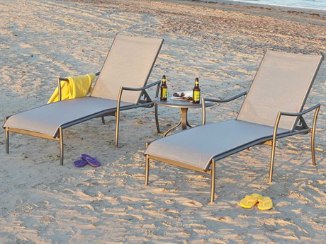 Woodard Dominica Sling Aluminum Lounge Set