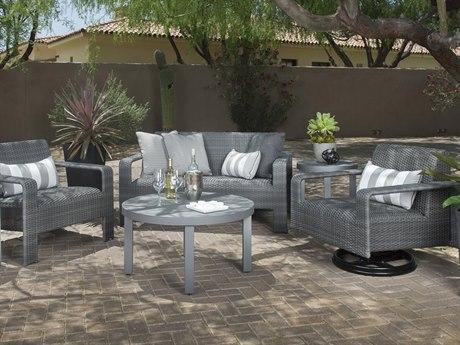 Woodard Darville Wicker Lounge Set