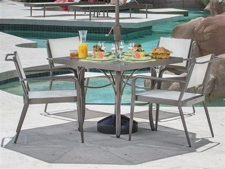 Woodard Daytona Sling Aluminum Dining Set