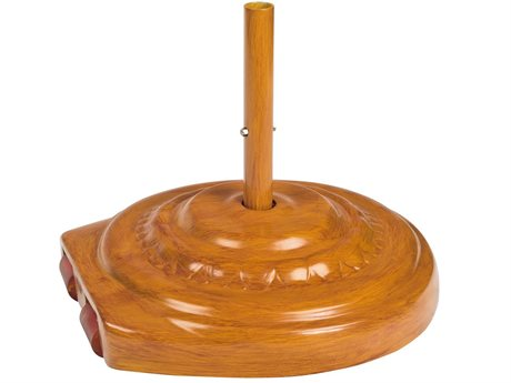 Woodard Teak 22 Round Fiberglass Umbrella Base with Wheels