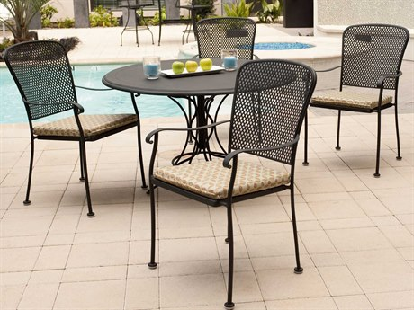Woodard Fullerton Wrought Iron Dining Set