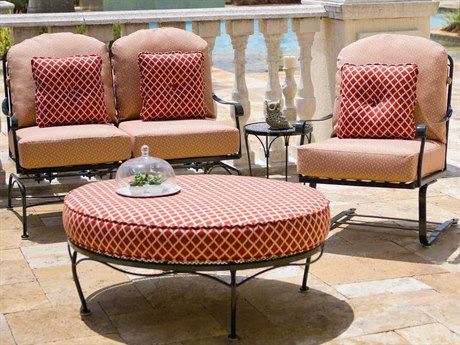 Woodard Fullerton Wrought Iron Lounge Set