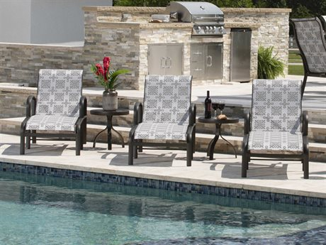 Woodard Fremont Sling Aluminum Lounge Set