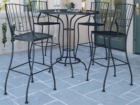 Woodard Aurora Wrought Iron Bar Set