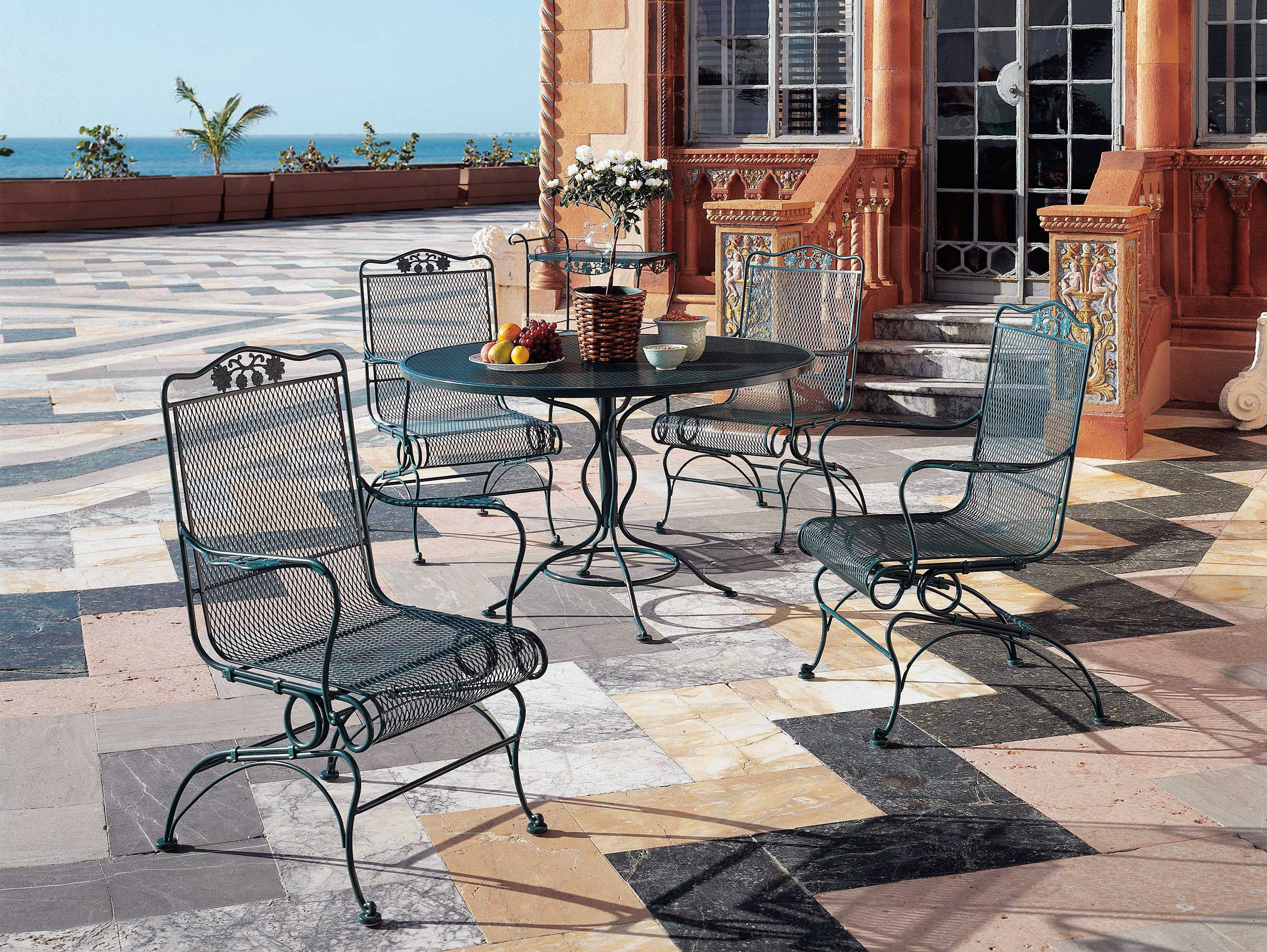 Woodard Briarwood Wrought Iron Dining Set Gblds