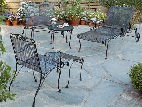 Woodard Briarwood Wrought Iron Metal Lounge Set WRGBLLS