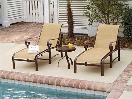 Delightful Woodard Belden Sling Aluminum Lounge Set