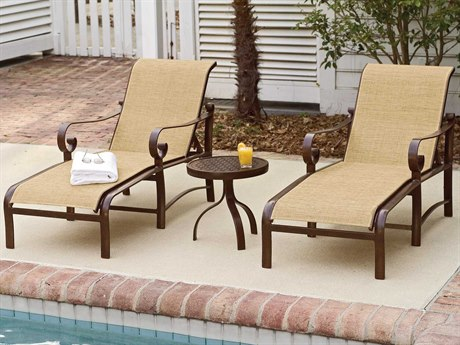 Woodard Belden Sling Aluminum Lounge Set PatioLiving