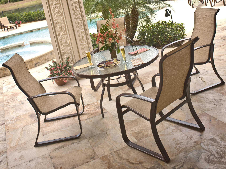 Woodard Sling Patio Furniture.Woodard Cayman Isle Sling Aluminum Dining Set Ggeds