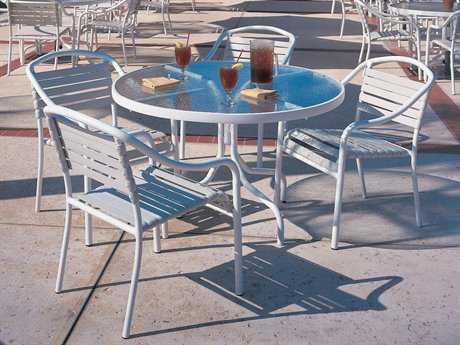Woodard Baja Strap Aluminum Dining Set