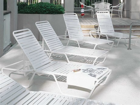 Woodard Baja Strap Aluminum Lounge Set PatioLiving