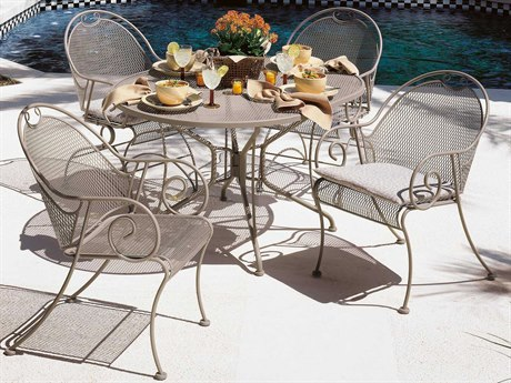 Woodard Cantebury Wrought Iron Dining Set