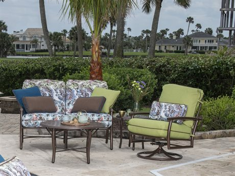 Woodard Glade Isle Cushion Aluminum Lounge Set