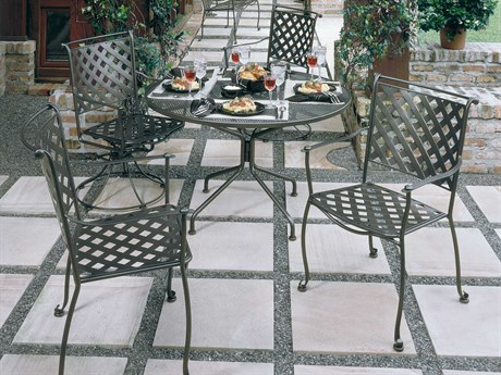 Woodard Maddox Wrought Iron Dining Set PatioLiving