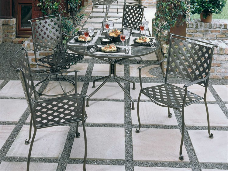 Woodard Maddox Wrought Iron Dining Set