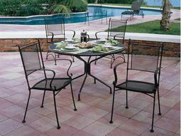 Bradford Mesh Wrought Iron Dining Set