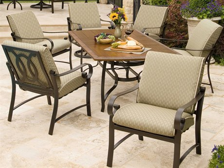 Woodard Belden Cushion Aluminum Dining Set
