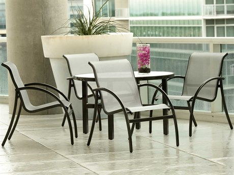 Woodard Tribeca Aluminum Dining Set