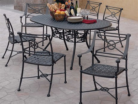 Woodard Delphi Cast Aluminum Dining Set