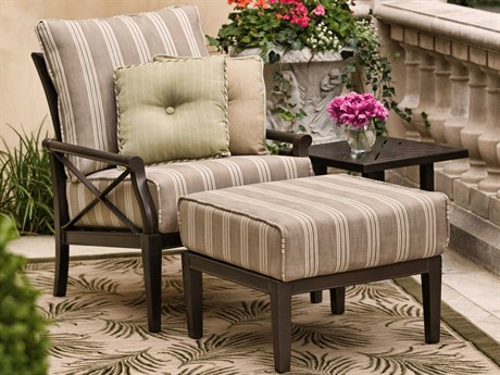 Woodard Andover Cushion Aluminum Lounge Set WRGVKLSSL