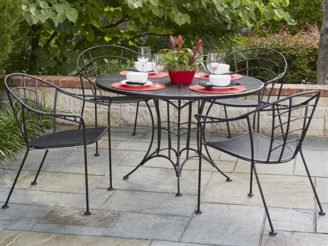 Woodard Hamilton Wrought Iron Dining Set