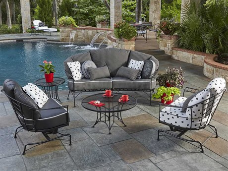 Woodard Hamilton Wrought Iron Lounge Set