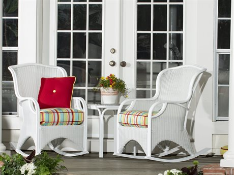 Woodard Heirloom Pristine White Wicker Lounge Set