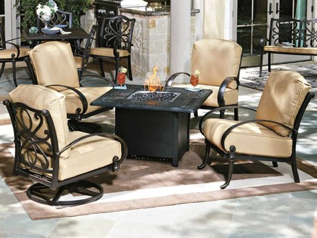 Woodard Holland Cast Aluminum Cushion Lounge Set
