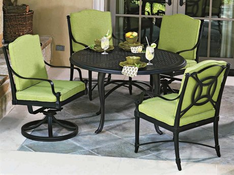Woodard Isla Aluminum Cushion Dining Set