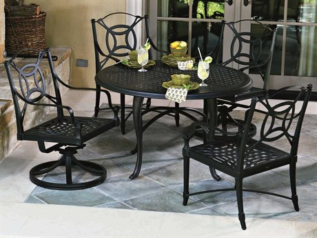 Woodard Isla Cast Aluminum Dining Set