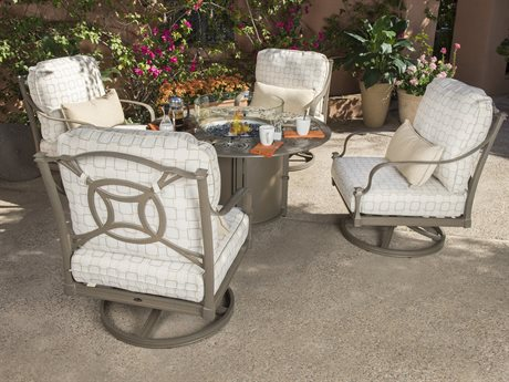 Woodard Isla Aluminum Fire Pit Lounge Set