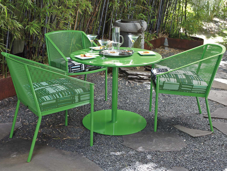 Woodard Wrought Iron Ada 42 Round Table With Umbrella Hole