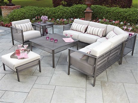 Woodard Jax Wrought Iron Sectional Set