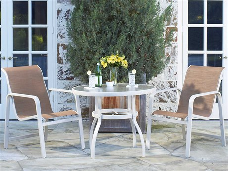 Woodard Landings Sling Aluminum Dining Set