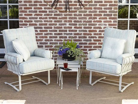Woodard Maddox Cushion Wrought Iron Lounge Set