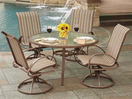 Woodard Exclusive Quick Ship Universal Round Dining Set