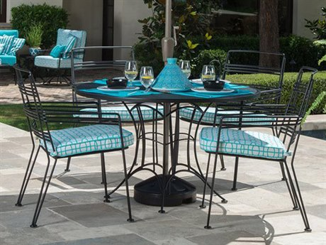 Woodard Madison Wrought Iron Dining Set