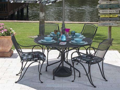 Woodard Modesto Wrought Iron Dining Set