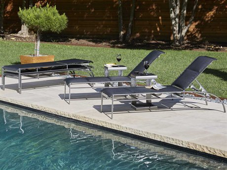 Woodard Metropolis Padded Sling Aluminum Lounge Set