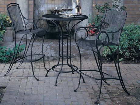 Woodard Modesto Wrought Iron Bar Set PatioLiving
