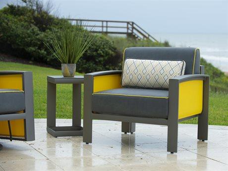 Woodard Metropolis Cushion Aluminum Lounge Set