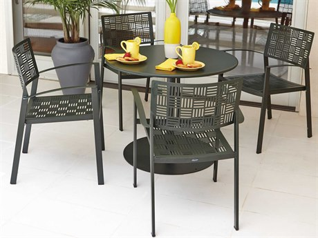 Woodard New Century Wrought Iron Dining Set
