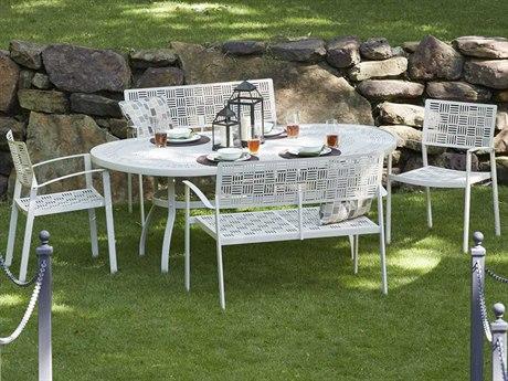 Woodard New Century Wrought Iron Dining Set