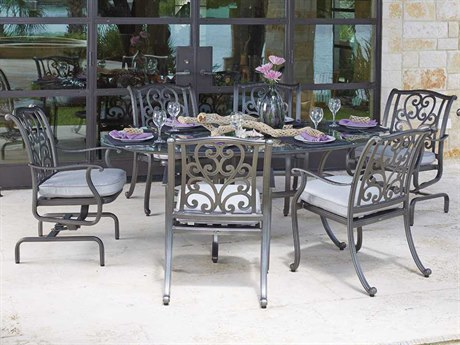 Woodard New Orleans Cast Aluminum Dining Set