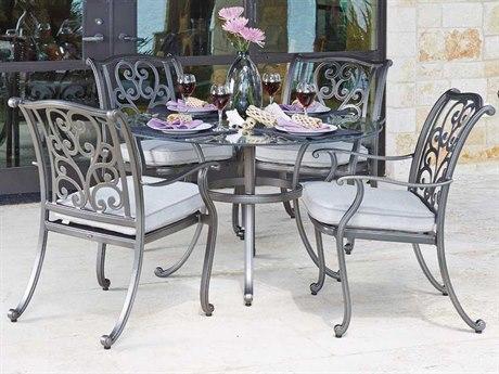 Woodard New Orleans Cast Aluminum Cushion Dining Set