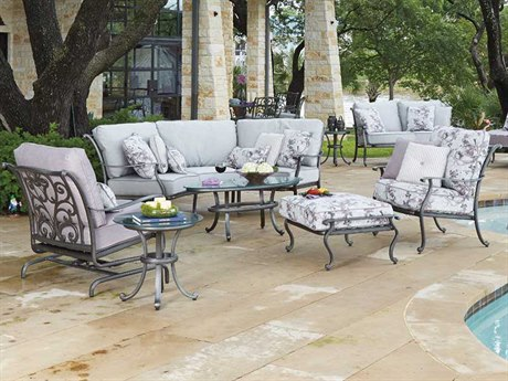 Woodard New Orleans Cast Aluminum Lounge Set