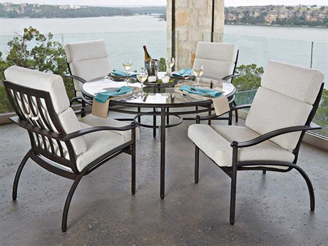 Woodard Nob Hill Aluminum Dining Set